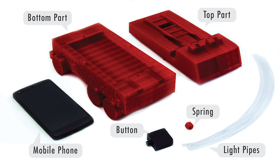 Components of the resulting interactive firetruck.