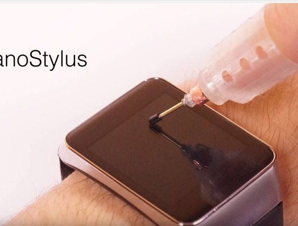 NanoStylus: Enhancing Input on Ultra-Small Displays with a Finger-Mounted Stylus