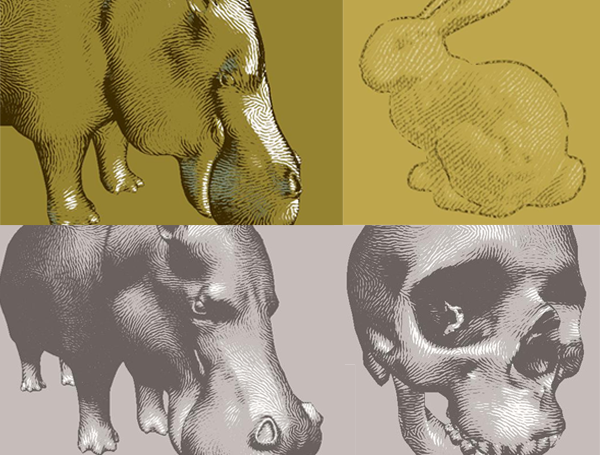Dynamic 2D Patterns for Shading 3D Scenes