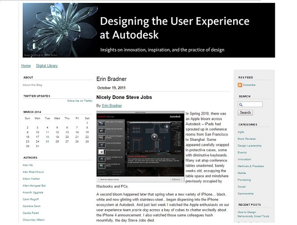 Designing the User Experience at Autodesk
