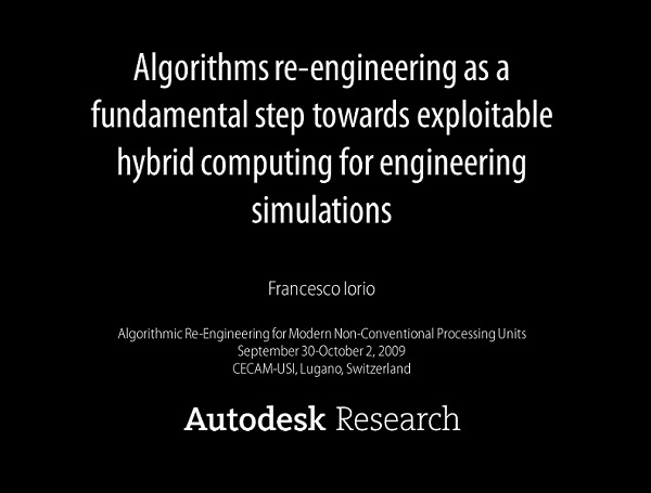 Algorithms Re-engineering as a fundamental step towards Exploitable Hybrid Computing for Engineering Simulations