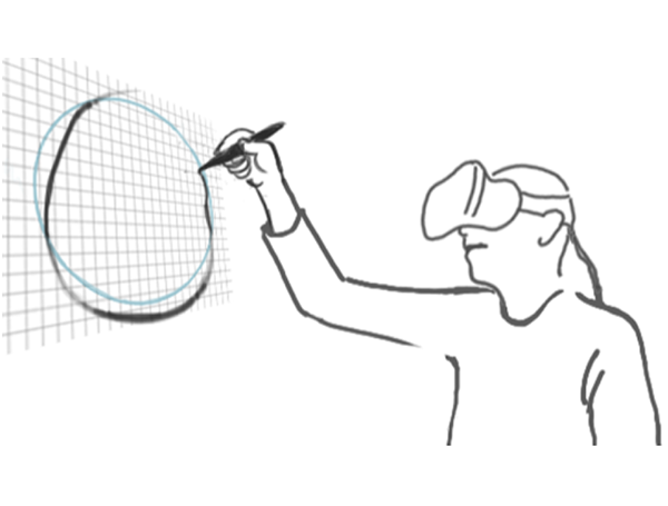 Experimental Evaluation of Sketching on Surfaces in VR