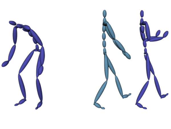 Staggered Poses: A Character Motion Representation for Detail–Preserving Editing of Pose and Coordinated Timing
