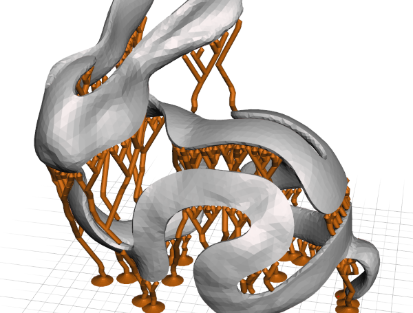 Branching Support Structures for 3D Printing